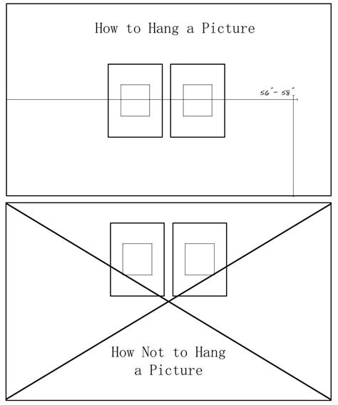 Height To Hang Pictures On Wall  My Web Value