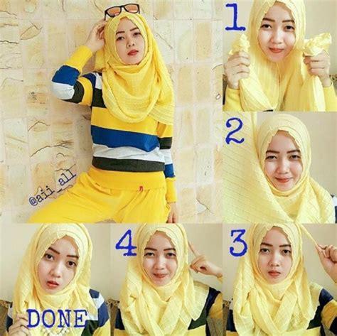 tutorial hijab   remaja jilbab gucci