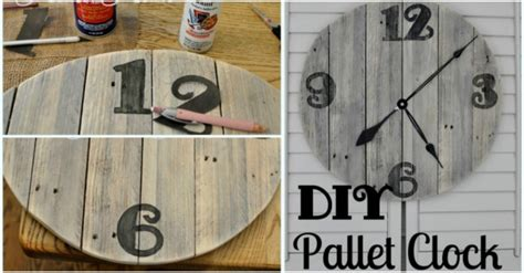 pdf diy wooden wall clock diy wooden wall clock with used pallets how to