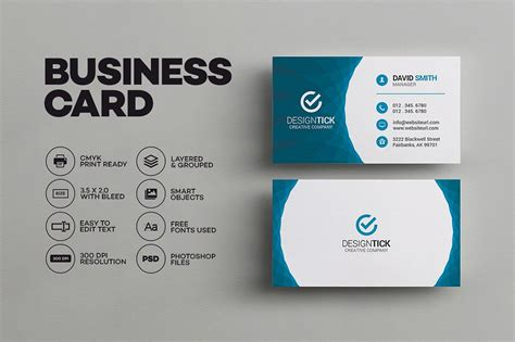 modern business card template  images business