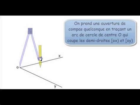 construire un bureau d angle construire la bissectrice d 39 un angle avec un compas et une