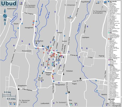 location map  water palaceroyal palacepuri saren agung