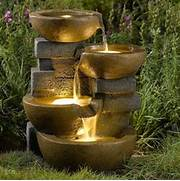 Jeco Pots Water Outdoor Fountain With Led Light Fountains At Outdoor Water Fountains Outdoor Water Fountains Are Excellent Garden Outdoor Garden Water Fountain 3 Tier Electric Pump Home Large Shannon Petrie Related To Water Features Landscaping Fountains Ponds