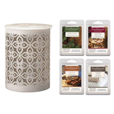 scentsationals maebly 5 piece wax warmer starter set