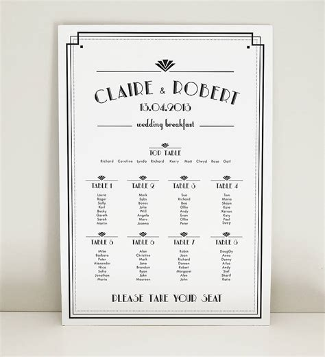Art Deco Estelle Wedding Table Plan By Project Pretty. Sample Technician Resume Cover Letter Template. Sample Letter Of Power Of Attorney Template. What Is Essay Writing Example Template. Interview For Nurse Manager Question And Answer Template. Resume Examples For Business Template. Invoice Covering Letter Sample Template. Safety Meeting Sign Off Sheet Template. Reflective Analysis Essay Examples Template