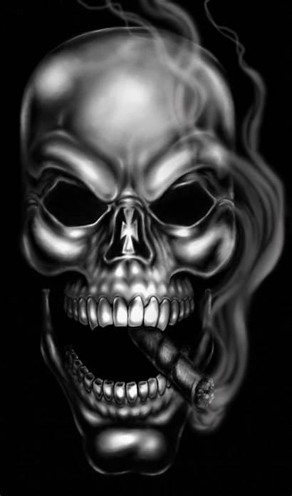 Skull Smoking Ram Deviantart Robertmarzullo Drawings Skulls