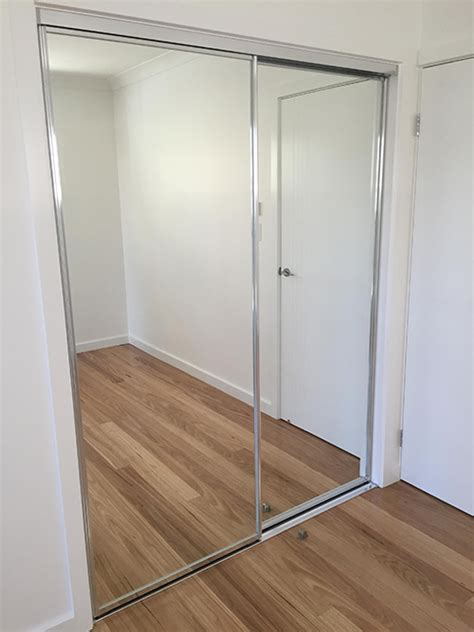 wardrobes doors gold coast brisbane frameless mirror