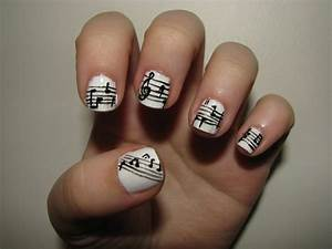 Music note nail art galleryhip the hippest galleries