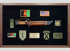 Custom Military Shadow Box Framing Framed Guidons