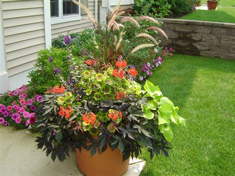 Container Gardens  Massachusetts Landscaping, Snow