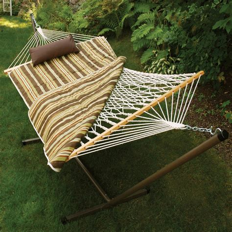 Cotton Rope Hammock by Algoma Cotton Rope Hammock Stand Pad And Pillow Set