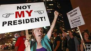 Anti-Trump protests break out in California, Chicago, New ...