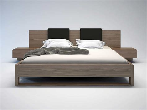 wooden king headboards platform bed by modloft contemporary bedroom