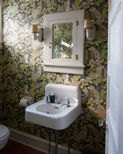 remarkable powder room wallpaper pictures best