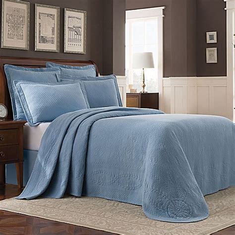 Blue Coverlets For Beds by Buy Williamsburg Abby Bedspread In Blue From Bed Bath