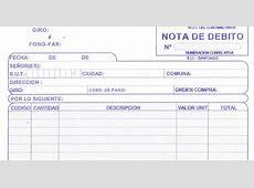 ESPECIALIDAD DE ADMINISTRACION DE EMPRESAS NOTA DE DEBITO