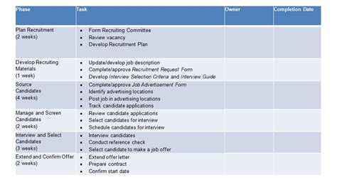 recruitment plan recruitment strategy template excel and word excel tmp