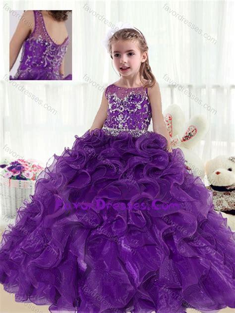 fashionable ball gown beading  ruffles  girl