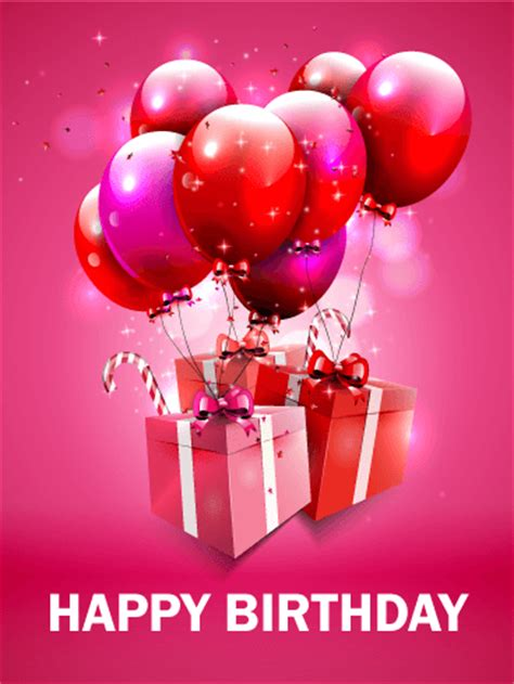 fantastic pink birthday balloon card birthday greeting