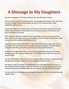 this is what i want my daughters to know a message for With letter to your daughter on her wedding day