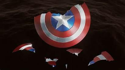 Shield Captain America Endgame Broken Cracked