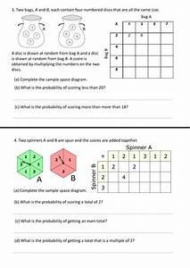 Sample Space Worksheet By Bulmer1404