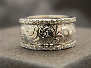 181 best western design wedding bands images on pinterest With western engraved wedding rings