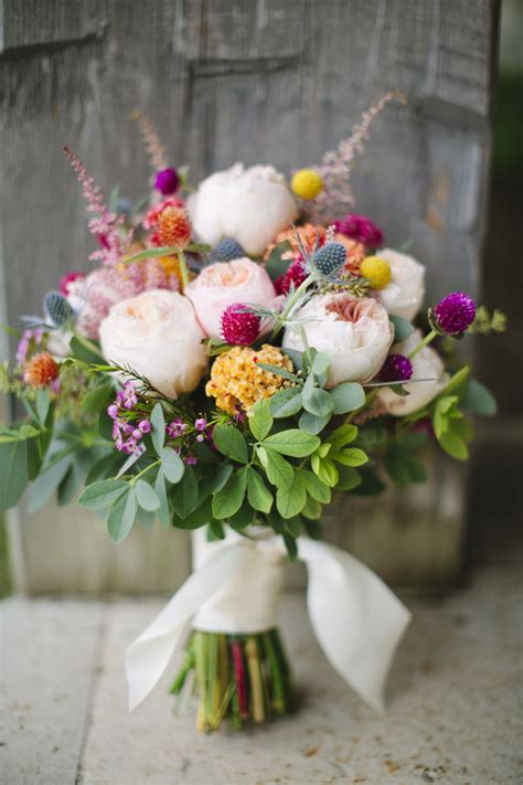 Colorful Wildflower Wedding Bouquet