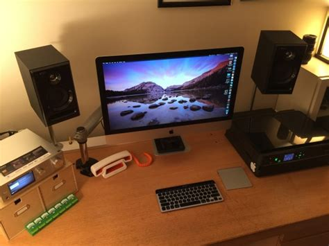 imac 27 desk mount mac setup arm mounted 27 imac with a beautifully tidy desk