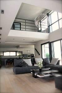 realisations deco d39un salon contemporain chaleureux With idee deco interieur contemporain