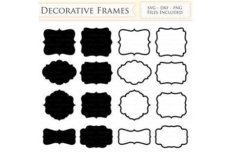 Interesting online photo frames in a golden design with decorative pattern and. Decorative Frames SVG Files - Frame Outline, Swirl Frame ...