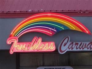 Rainbow Touchless Carwash Edmonton Alberta Neon Signs