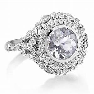 engagement ring 8mm forever brilliant moissanite genuine With the forever diamond wedding ring