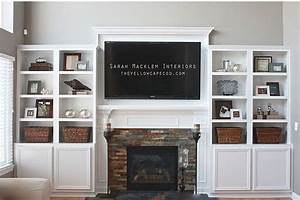 Diy Built In Entertainment Center With Fireplace
