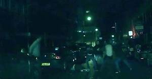 Dramatic dashcam footage shows mass brawl erupting in city ...