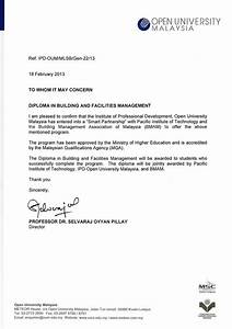 Open University Malaysia Letter  Asia College of Technology