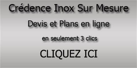 plan de travail cuisine inox sur mesure crédence inox brossé pour la cuisine plan de travail