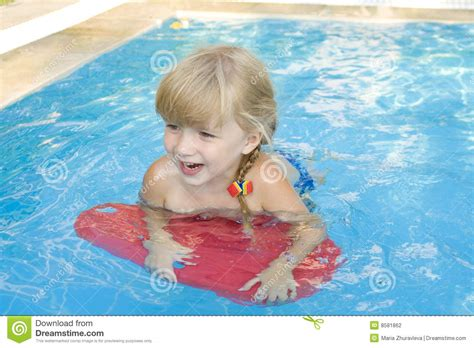 Girl In The Swimmingpool Stock Photo Image Of Cheerful