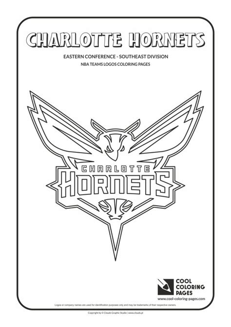 cool coloring pages charlotte hornets nba basketball