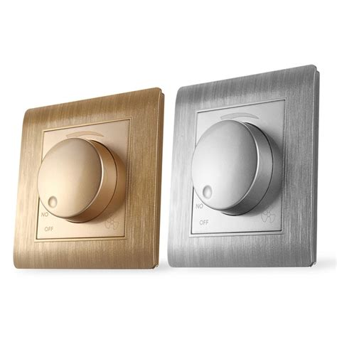 luxury wall light switch panel dimmer speed switch