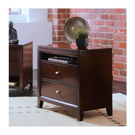 tribecca home furniture american drew tribecca two drawer nightstand 912 420