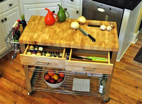 diy portable kitchen island 12 diy kitchen island designs ideas