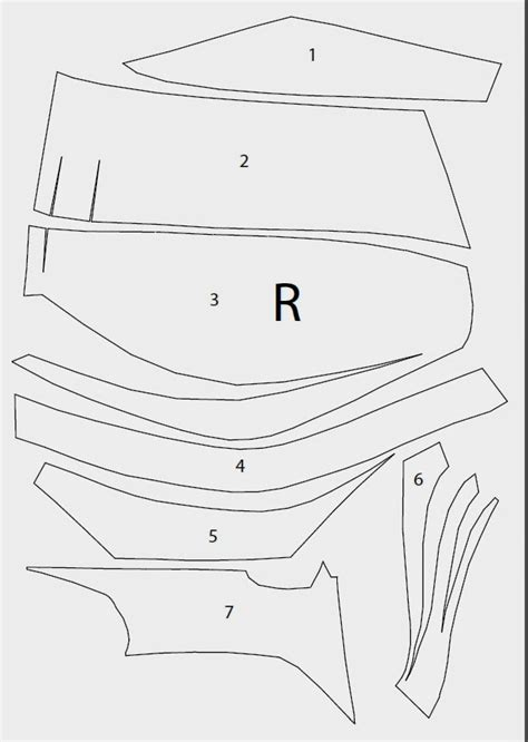 cardboard armor template dali lomo batman chest armor diy cardboard with template