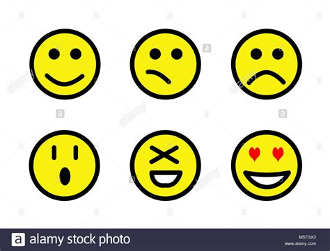 sad face emoticon cut  stock images pictures alamy