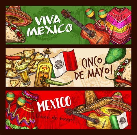 Cinco de mayo traditional mexican holiday symbols ...