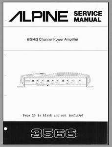 Alpine 3566 Service Manual  Analog Alley Manuals
