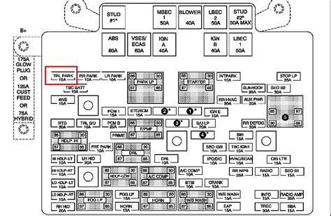 2001 Chevy Silverado Fuse Diagram by Box Chevrolet Silverado 2011 Engine Compartment Fuse Box