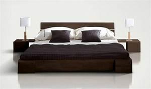 Lit Bois Massif Design : lit bois design tokyo bas weng laqu ~ Teatrodelosmanantiales.com Idées de Décoration