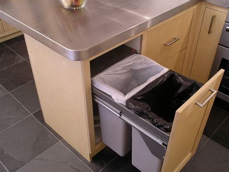 Bins For Kitchen Cupboards by Custom Built Birch Ply And Stainless Steel Kitchen By