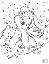 Yeti Coloring Pages Bigfoot Printable Running Unicorn Supercoloring Categories Dot Drawing sketch template